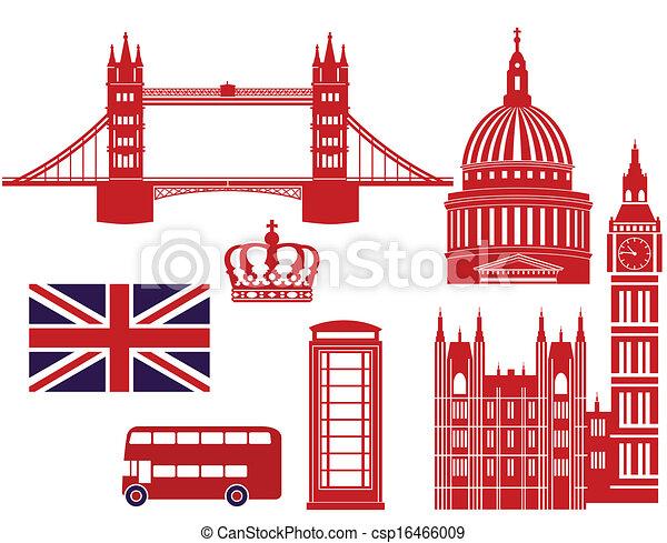 Londoner Wahrzeichen - csp16466009