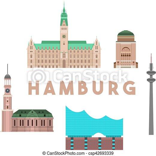 Wahrzeichen Skyline Hamburg Ausfuhrlich Bunte Wahrzeichen