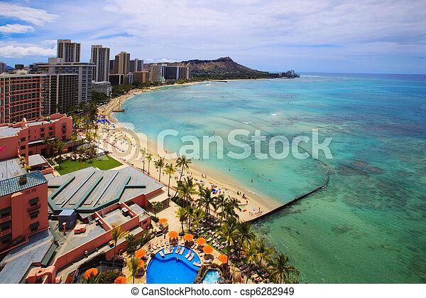 Waikiki Beach, Diamond Head - csp6282949