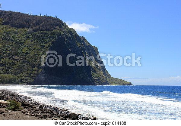 waipio valley hawaii - csp21614188