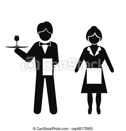 Waiter Silhouette Clip Art