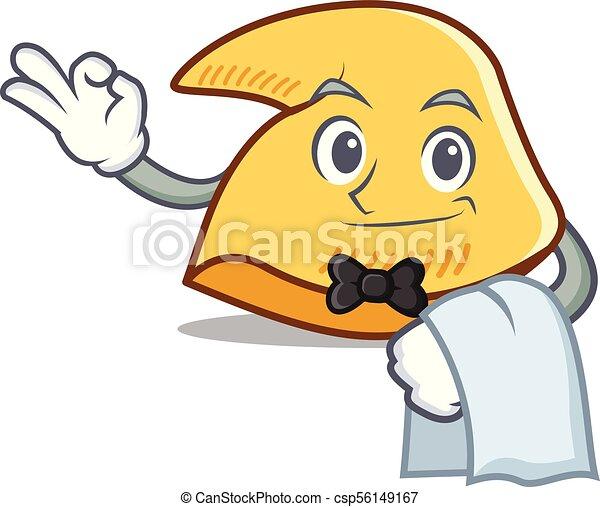 waiter fortune cookie mascot cartoon vector illustration clip art rh canstockphoto com water clip art free water clip art pictures