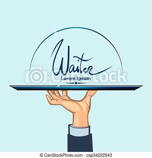 waiter hand color - csp34222543