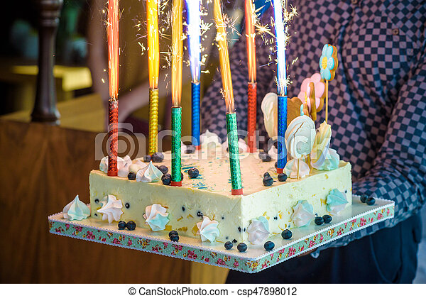 Strange Waiter Serves A Birthday Cake At A Party Waiter Brings A Birthday Personalised Birthday Cards Veneteletsinfo