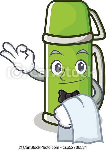 waiter thermos character cartoon style vector illustration vectors rh canstockphoto ca water clipart water clipart