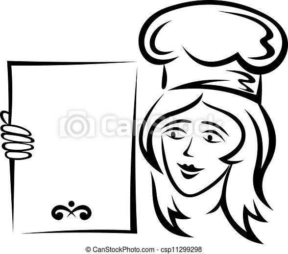 Waiter With Blank Menu For Restaurant Design