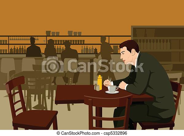 Waiting at cafe - csp5332896