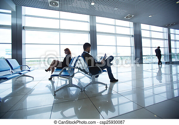 Waiting in the airport - csp25930087