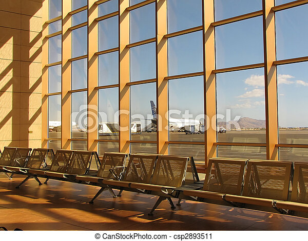 waiting lounge in an airport - csp2893511