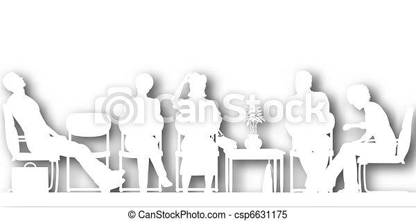 Waiting room cutout - csp6631175