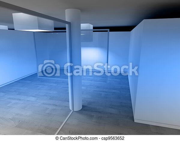 Waiting room in a hospital or clinic with empty space - csp9563652