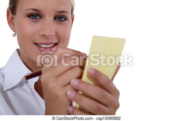 Waitress taking order - csp10390682