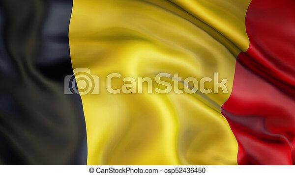 Waiving flag of Belgium - csp52436450
