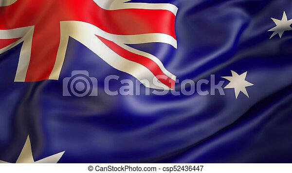 waiving, vlag, australië - csp52436447