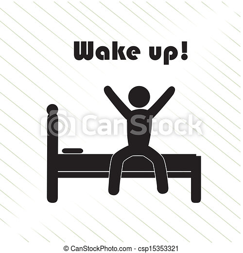 wake up over white background vector illustration rh canstockphoto com get up early clipart wake up girl clipart