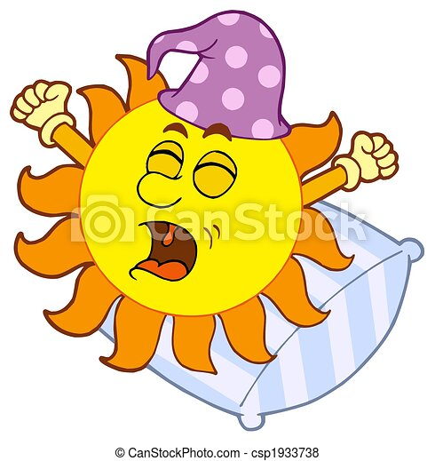 waking up sun isolated illustration rh canstockphoto com wake up clipart wake up clipart black and white