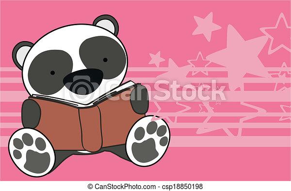 Wal orso cartone animato bambino lettura panda formato
