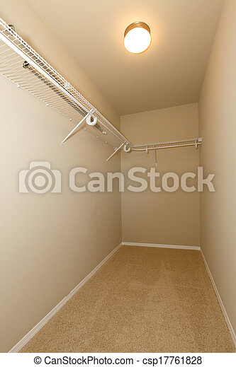 Walk In Empty Closet Stock Photo