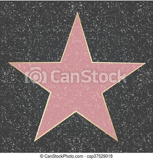 Walk Of Fame Star - csp37529018