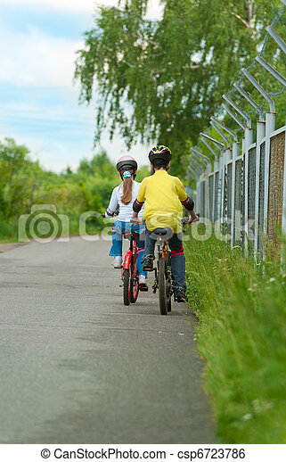 Walk on bicycles - csp6723786