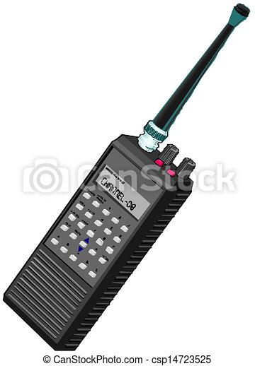 walkie, rádio, přenosný, zvukový film, nebo - csp14723525