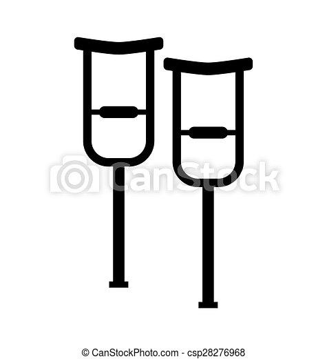 Walking crutches symbol - csp28276968