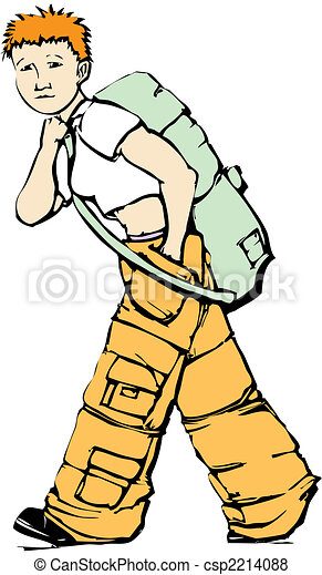 Walking Girl in Cargo Pants - csp2214088