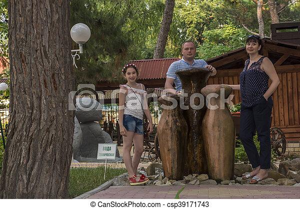 Walking in the park - csp39171743
