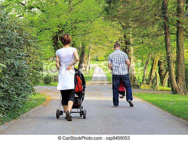 Walking in the park - csp9459053