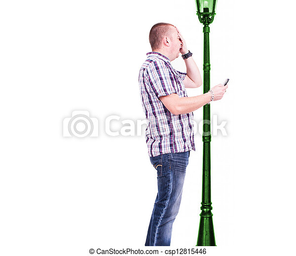 Walking Into A Lamp Post While Text A Man Walking Into A Lamp Post