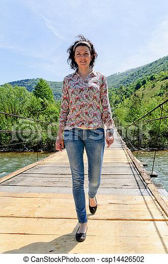 Walking on Bridge - csp14426502