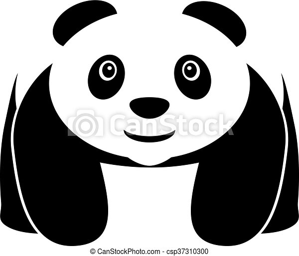 walking panda vector icon vector illustration of a walking or