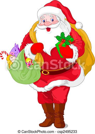 walking santa claus csp2495233 - Santa Claus Gifts