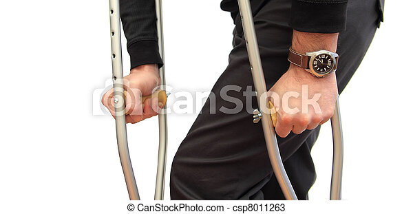 walking with crutches - csp8011263