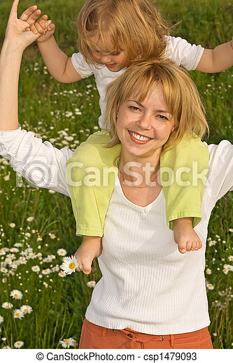 Walking with mom - csp1479093