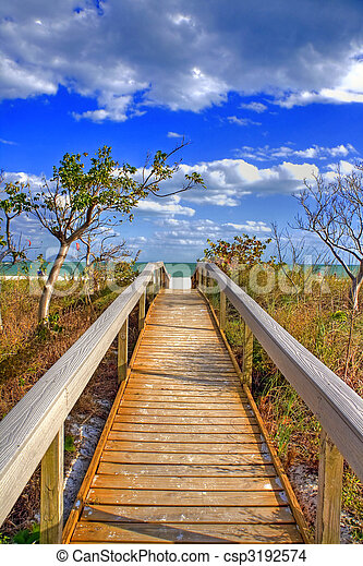walkway, océan - csp3192574