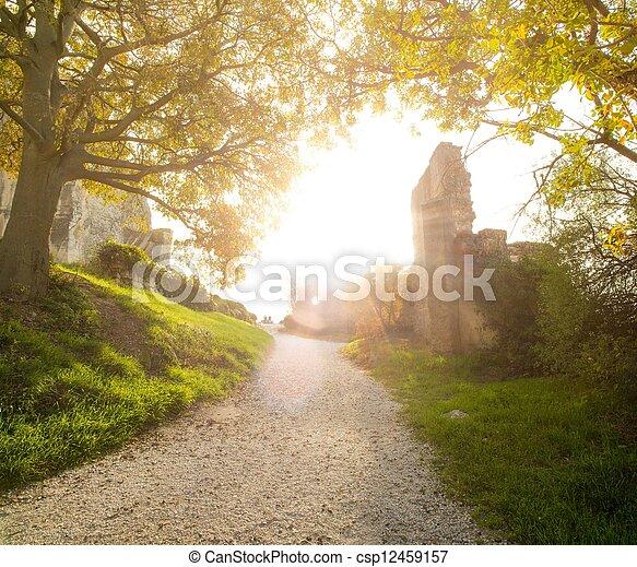 Walkway on sunny day - csp12459157