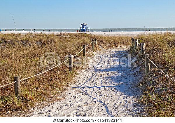 Walkway to Siesta Key Beach in Sarasota, Florida - csp41323144