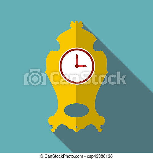 Wall clock icon, flat style - csp43388138