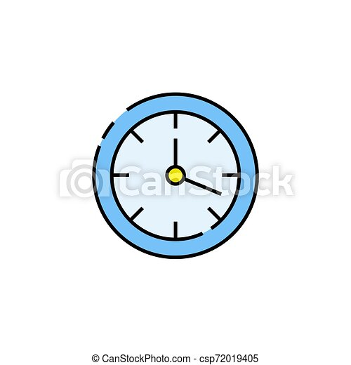 Wall clock line icon - csp72019405