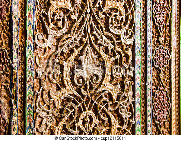 Wood Carved Wall Decor stock photography of wall decor in uzbekistan. - wood carved