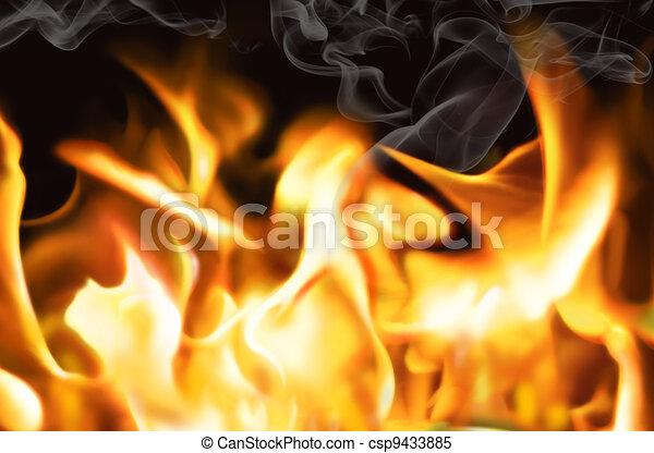 wall-fire - csp9433885