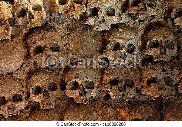 Wall full of skulls - csp8328288