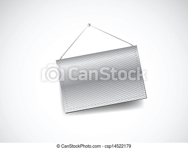 wall hanging blank template banner illustration design over white