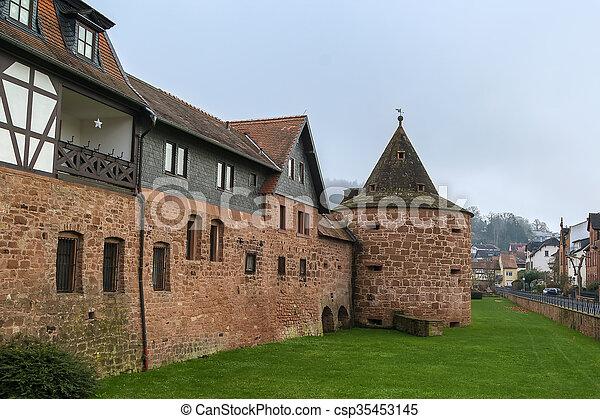 wall in Budingen. Germany - csp35453145