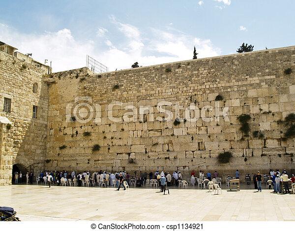 Wall in Jerusalem - csp1134921
