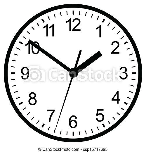 Wall mounted digital clock. vector illustration. eps ...