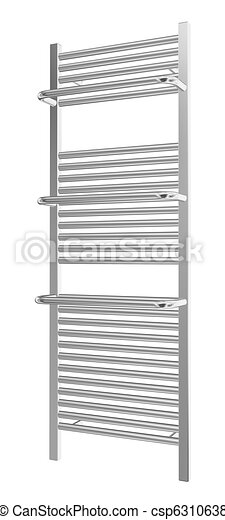 Wall-mounted towel rack with chrome finishing, 3d illustration - csp6310638