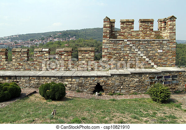 Wall of fortress - csp10821910