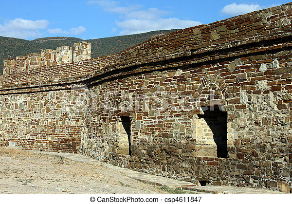 wall of fortress - csp4611847